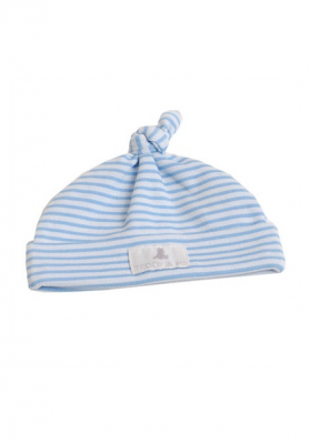 Baby boy blue knot hat size 00000