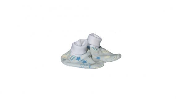 Preemie gifts - blue boys booties