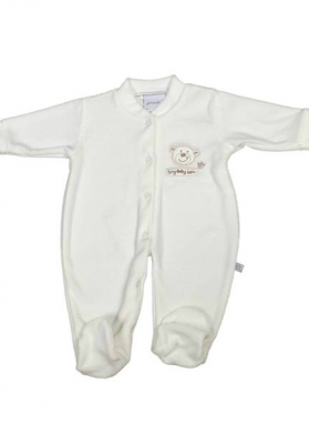 Ivory coloured premature baby clothing - Teddy Bear for 1.5kg baby