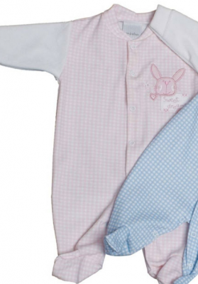 Size 00000 baby clothes bunny gingham