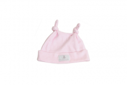 Premmie baby gifts, Pink Gingham hat