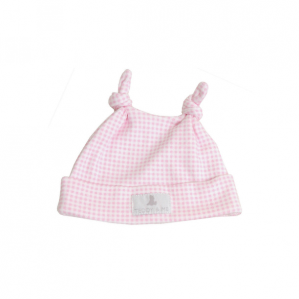 Premature Baby Gifts Australia : Pink gingham hat kg nashi baby