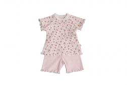 Beautiful baby gift for premmie baby girl - pink capri pants suit