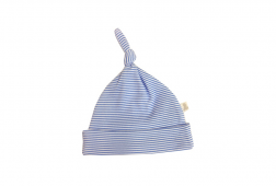 Premature baby clothes - blue striped hat