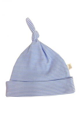 Premature baby clothes - blue striped hat