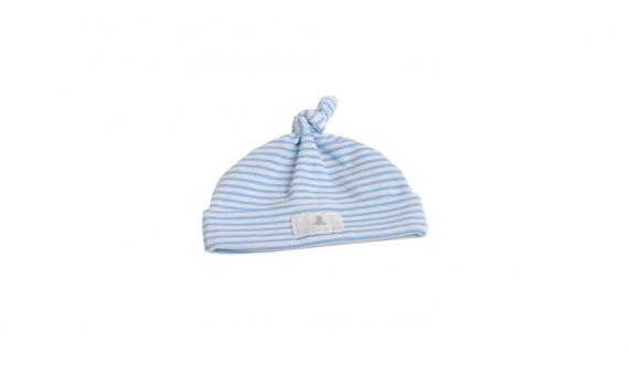 Baby boy blue knot hat size 00000