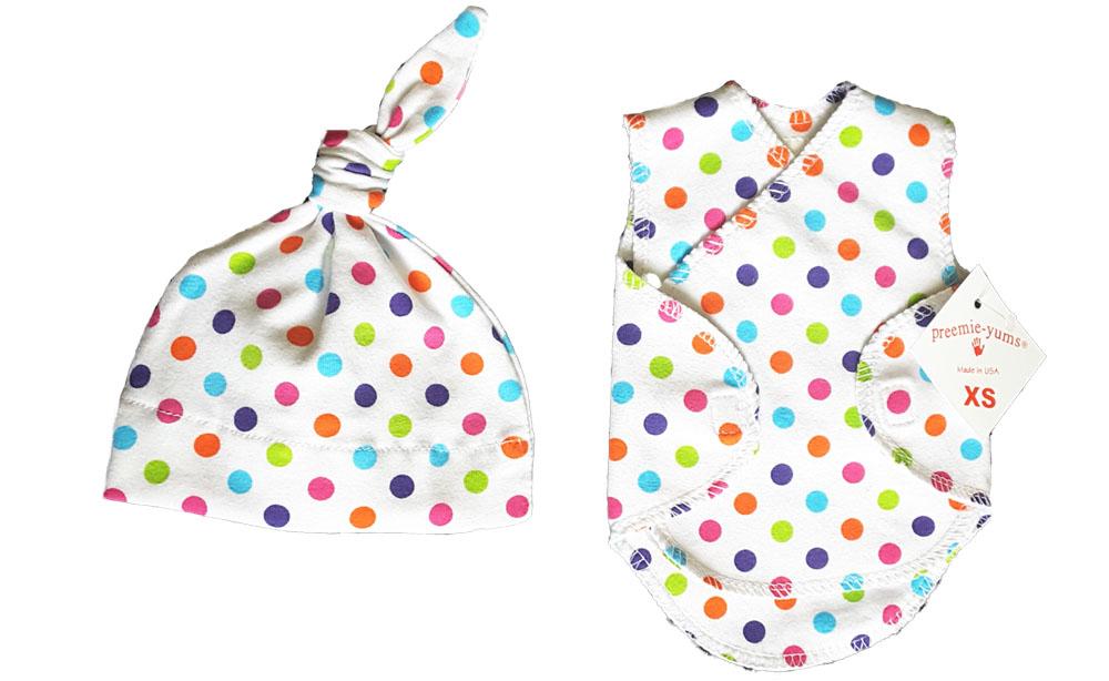 Premature Baby Gifts Australia : Dotzy nicu wrap vest hat kg nashi baby